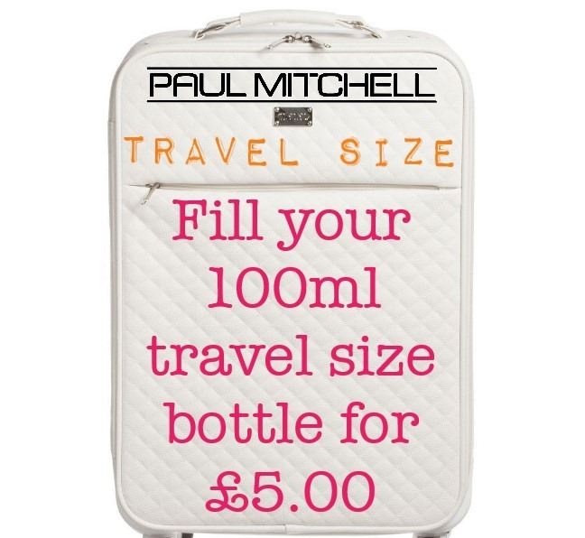 Re-fill your travel bottles for £5