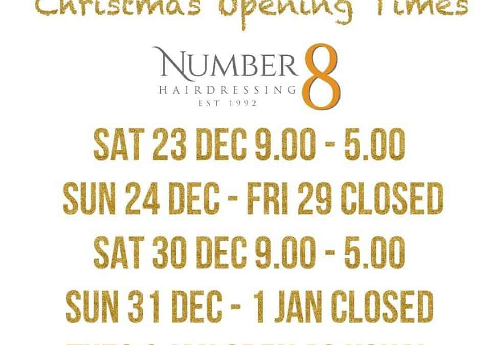 Opening times for Christmas