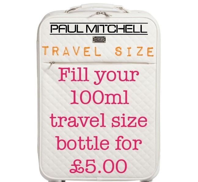 Re-fill your travel bottles for £5